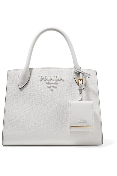 Prada - Textured-leather Tote - White at NET-A-PORTER