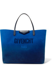 Givenchy Antigona reversible printed suede and metallic leather tote