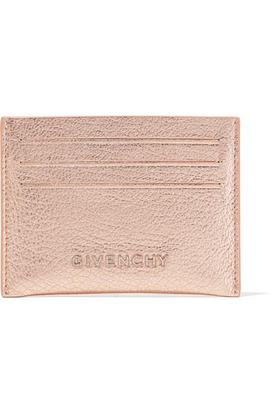 Pandora Metallic Textured-leather Cardholder - Silver Givenchy ZUKIRys