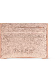 Pandora metallic textured-leather cardholder