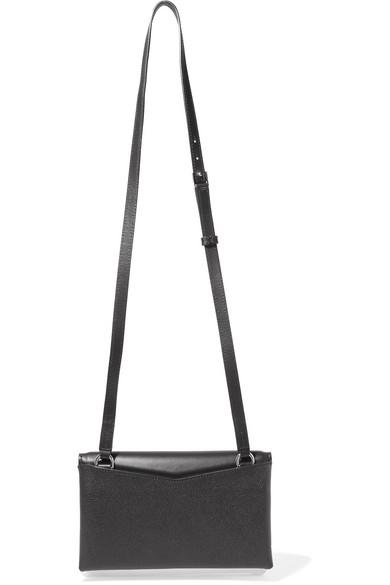 Givenchy Duetto zweifarbige Schultertasche aus glattem und strukturiertem Leder