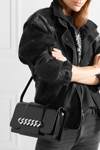 Givenchy Infinity Schultertasche aus Leder mit Kettenbesatz