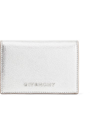 Pandora small metallic textured-leather wallet
