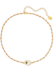 Chan Luu Gold-plated quartz choker