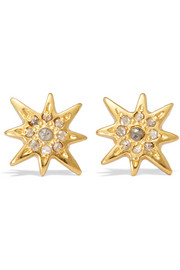 Chan Luu Gold-plated diamond earrings