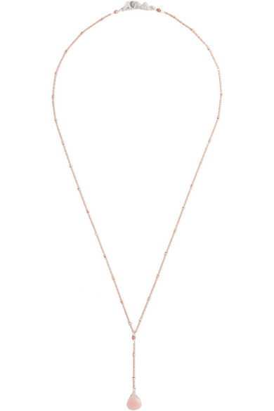 Chan Luu Rose goldplated silvertone and opal necklace NETA