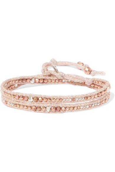 Chan Luu Tasseled Silver-tone Rose Quartz Bracelet - Rose gold FeBlwSMN