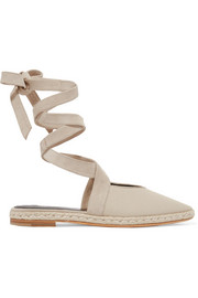 JW Anderson Suede-trimmed canvas espadrilles