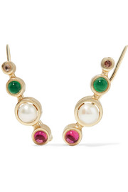 Zoe gold-plated multi-stone earrings