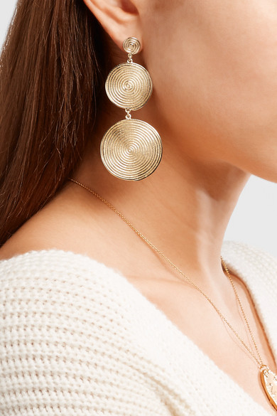 Elizabeth And James Lorelai Gold Plated Earrings