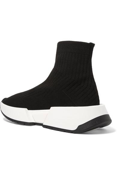 MM6 Maison geripptem Margiela | Sneakers aus geripptem Maison Stretch-Strick 0a2223