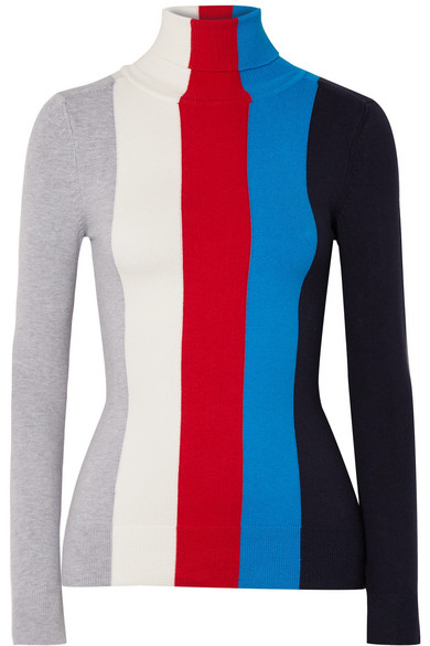 Joostricot Striped Turtleneck From A Cotton Blend