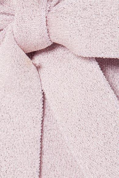 JoosTricot Pullover aus Lurex® mit Schluppe und Rüschen