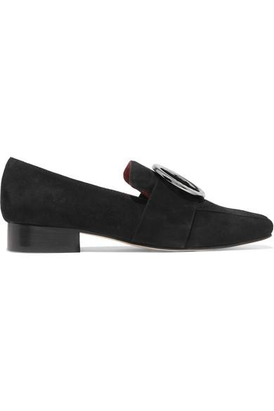 Harput Embellished Suede Loafers - Black DORATEYMUR s5ggr
