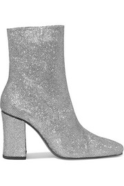 Sybil Leek glittered canvas ankle boots