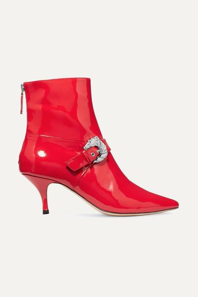 DORATEYMUR Saloon Ankle Boots aus Lackleder mit Schnallenverzierung Empfehlen Günstig Online Erhalten Authentisch Zu Verkaufen Billige Angebote 7OxDTK1
