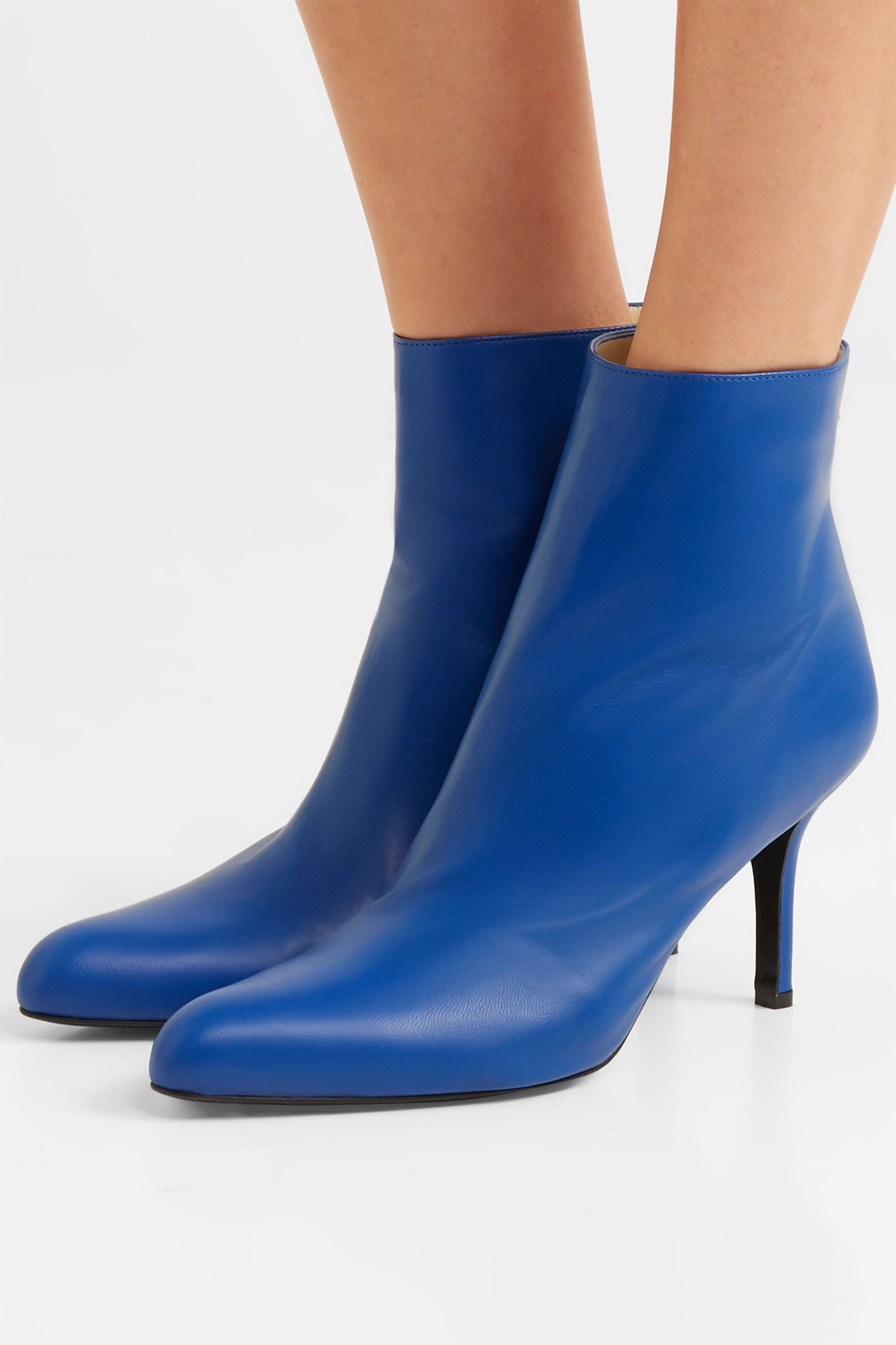 Cobalt blue Leather ankle boots | Marni