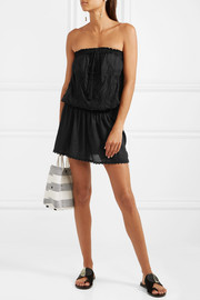 Fruley embroidered voile mini dress