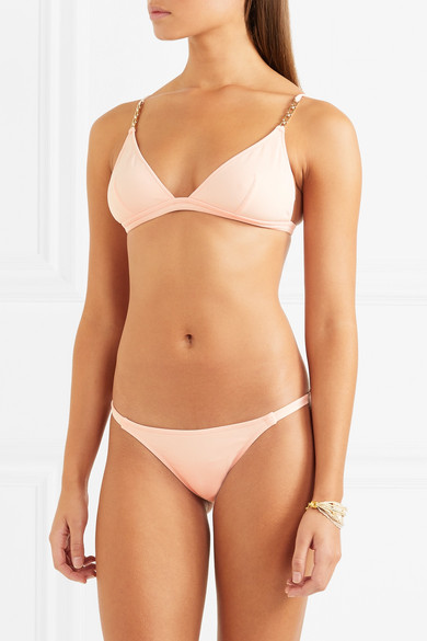 Melissa Odabash Mexico verziertes Triangel-Bikini-Oberteil