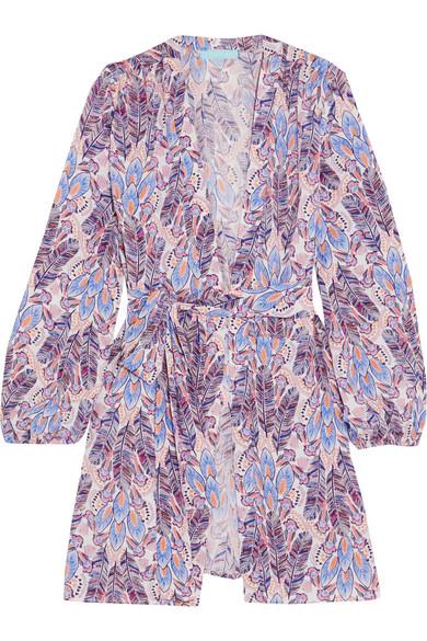 Melissa Odabash Kiera Wickelkleid in Minilänge aus bedrucktem Jersey