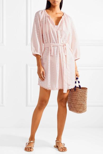 Melissa Odabash Alicia besticktes Strandkleid aus Baumwoll-Voile
