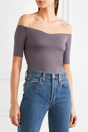 Beverly off-the-shoulder stretch-jersey bodysuit