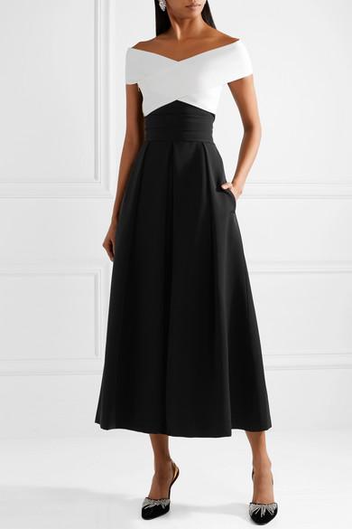 Preen By Thornton Bregazzi Virginia Strapless Midi Dress In Stretch Cady