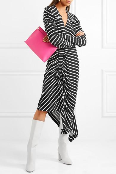 Preen by Thornton Bregazzi Annabel asymmetrisches Kleid aus gestreiftem Stretch-Jersey mit Raffung