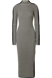 Preen by Thornton Bregazzi Holly button-embellished ribbed merino wool dress