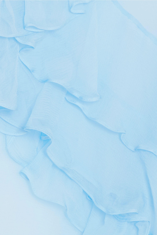 Preen by Thornton Bregazzi Marika ruffled silk-chiffon blouse