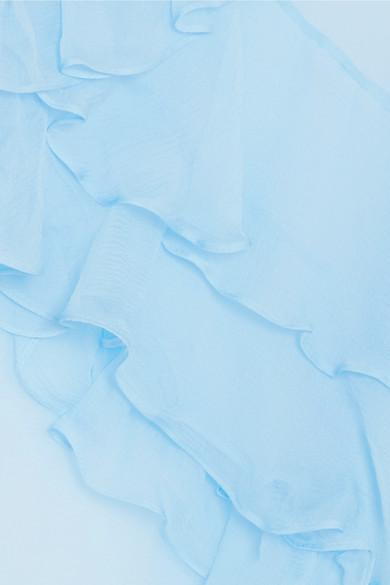Preen by Thornton Bregazzi Marika Bluse aus Seidenchiffon mit Rüschen