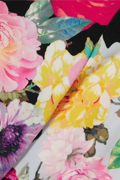 Preen by Thornton Bregazzi Aidan Oberteil aus Stretch-Jersey mit Blumendruck und Cut-outs