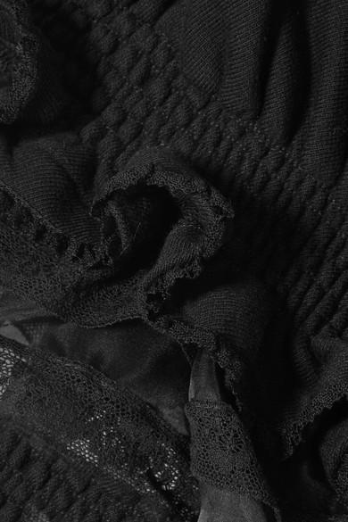 Preen by Thornton Bregazzi Scarlet Oberteil aus Baumwoll-Jersey mit Rüschen