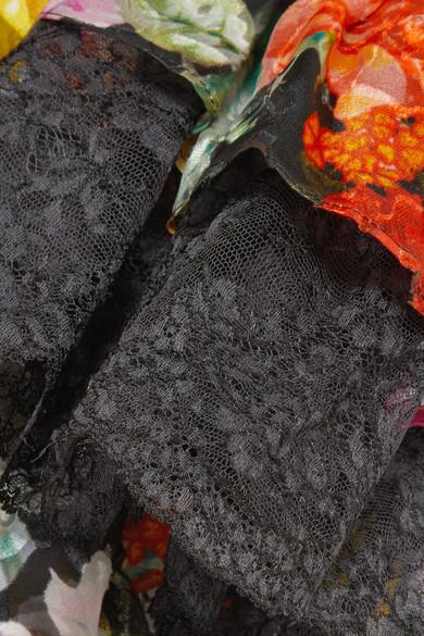 Preen by Thornton Bregazzi Madeleine Midikleid aus Devoré-Chiffon aus einer Seidenmischung