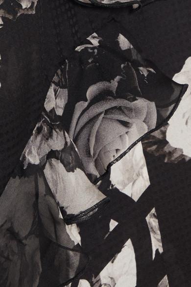 Preen by Thornton Bregazzi Verity bedrucktes Oberteil aus Seide