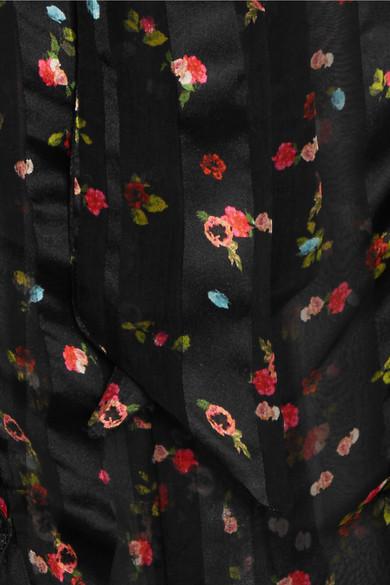 Preen by Thornton Bregazzi Billy Bluse aus Seiden-Jacquard mit Rüschen und floralem Print