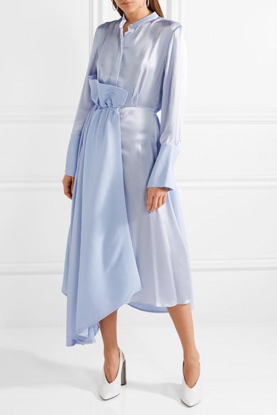 Roksanda Micah Kleid aus Baumwoll-Seersucker und gehämmertem Seidensatin