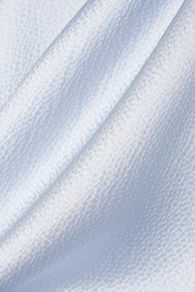 Roksanda Kanika Hemd aus glänzendem Seersucker aus einer Seidenmischung