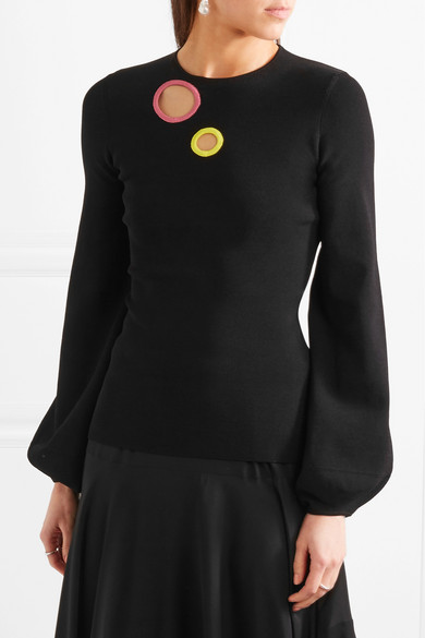Roksanda Saher Pullover aus geripptem Stretch-Strick mit Cut-outs