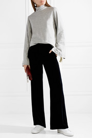 CLU Bow-embellished cotton-jersey turtleneck top