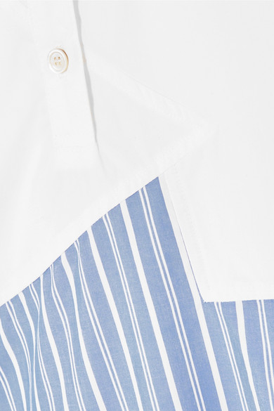 CLU Asymmetrisches Kleid aus Baumwollpopeline