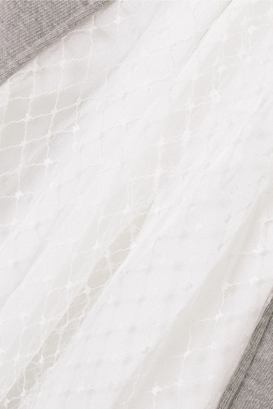 CLU Sweatshirt aus Jersey aus einer Baumwollmischung mit Mesh- und Satineinsätzen