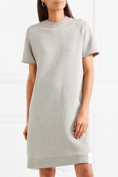 CLU Kleid aus Jersey aus einer Baumwollmischung mit Mesh-Einsatz