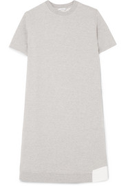 CLU Paneled cotton-blend jersey and mesh dress