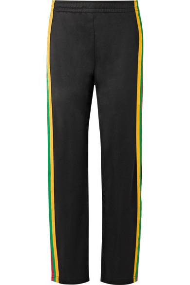 Acne Studios Norwich Face Jogginghose aus glänzendem Jersey mit Streifen
