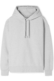 Acne Studios Yala oversized cotton-fleece hooded top