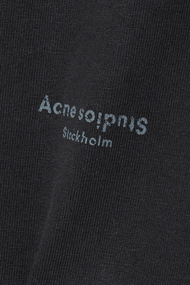 Acne Studios Jopa bedrucktes Kleid aus Baumwollfrottee