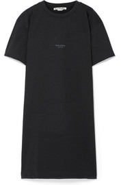 Acne Studios Jopa printed French cotton-terry dress