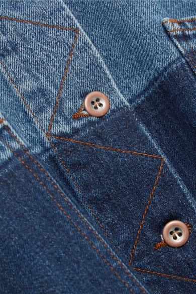 Acne Studios Kanani zweifarbige Oversized-Jeansjacke