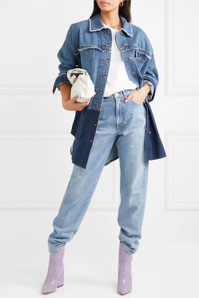 Outlet Mode-Stil Vorbestellung Acne Studios Kanani zweifarbige Oversized-Jeansjacke dTix3ly